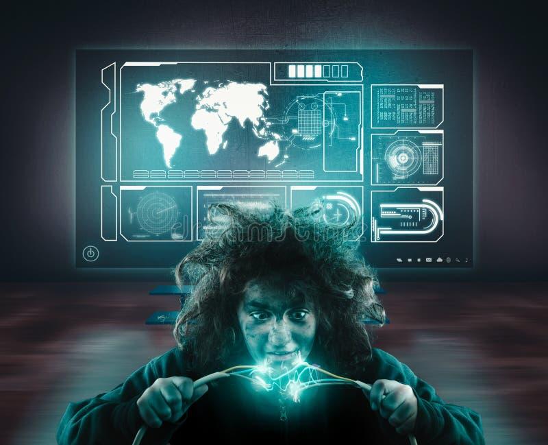 Wirus w system sieci obraz stock