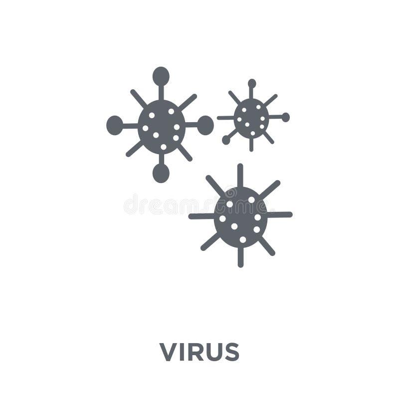 Wirusowa ikona od kolekcji ilustracja wektor