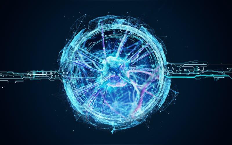 Wirusowe komórki pod mikroskopem royalty ilustracja