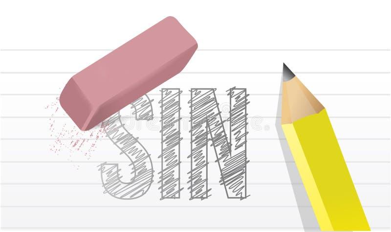 Wis al ontwerp van de zondenillustratie over een blocnote vector illustratie