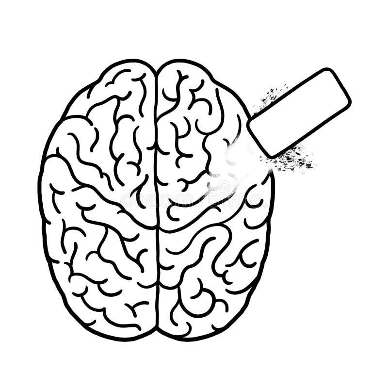 Wis de illustratie van het hersenenoverzicht vector illustratie