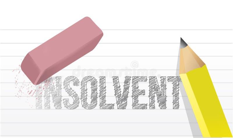 Wis de illustratie van het insolventieconcept vector illustratie