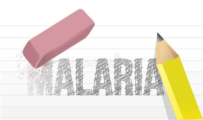 Wis de illustratieontwerp van de malariaziekte vector illustratie