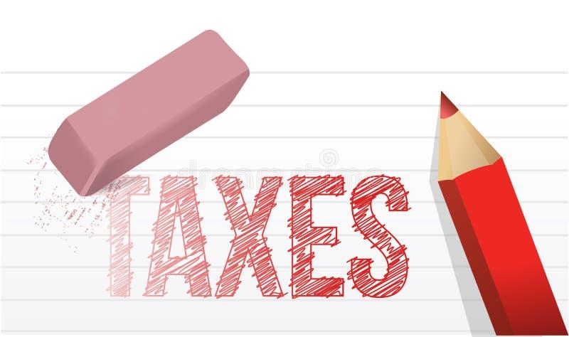 Wis de illustratieontwerp van het belastingenconcept royalty-vrije illustratie