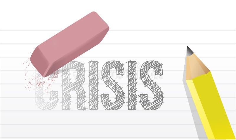 Wis de illustratieontwerp van het crisisconcept vector illustratie