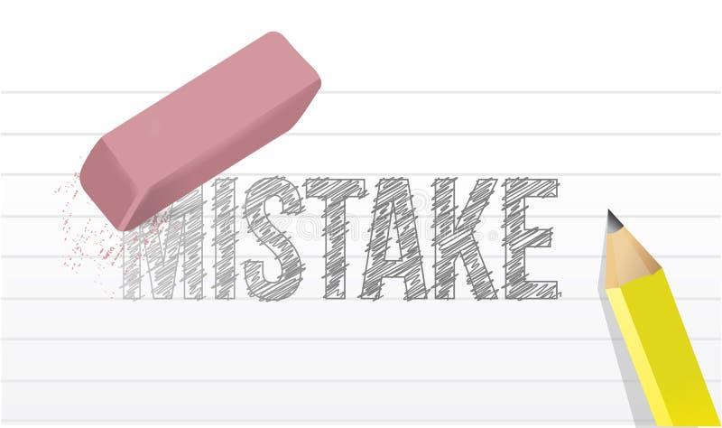 Wis de illustratieontwerp van het foutenconcept stock illustratie