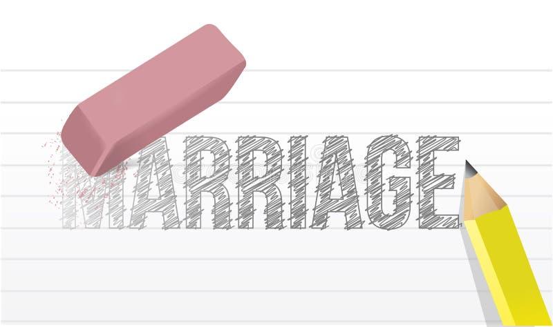 Wis de illustratieontwerp van het huwelijksconcept royalty-vrije illustratie