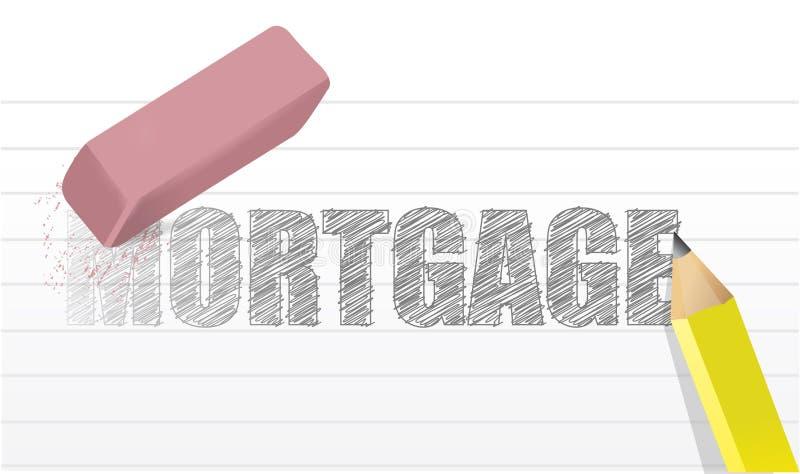 Wis de illustratieontwerp van het hypotheekconcept stock illustratie
