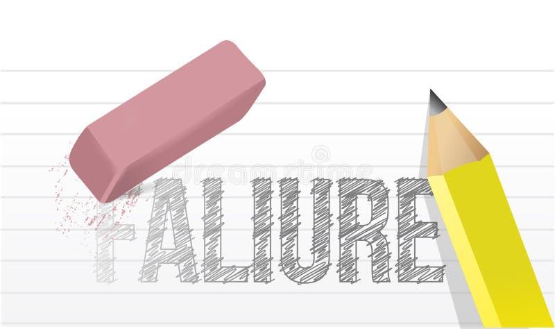Wis de illustratieontwerp van het mislukkingenconcept vector illustratie