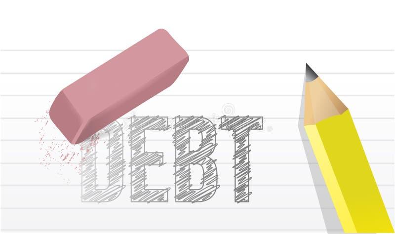 Wis de illustratieontwerp van het schuldenconcept royalty-vrije illustratie