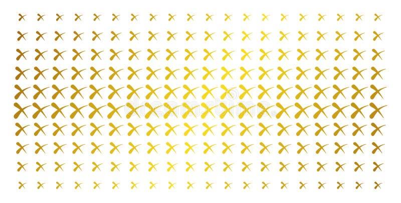 Wis Gouden Halftone Serie vector illustratie