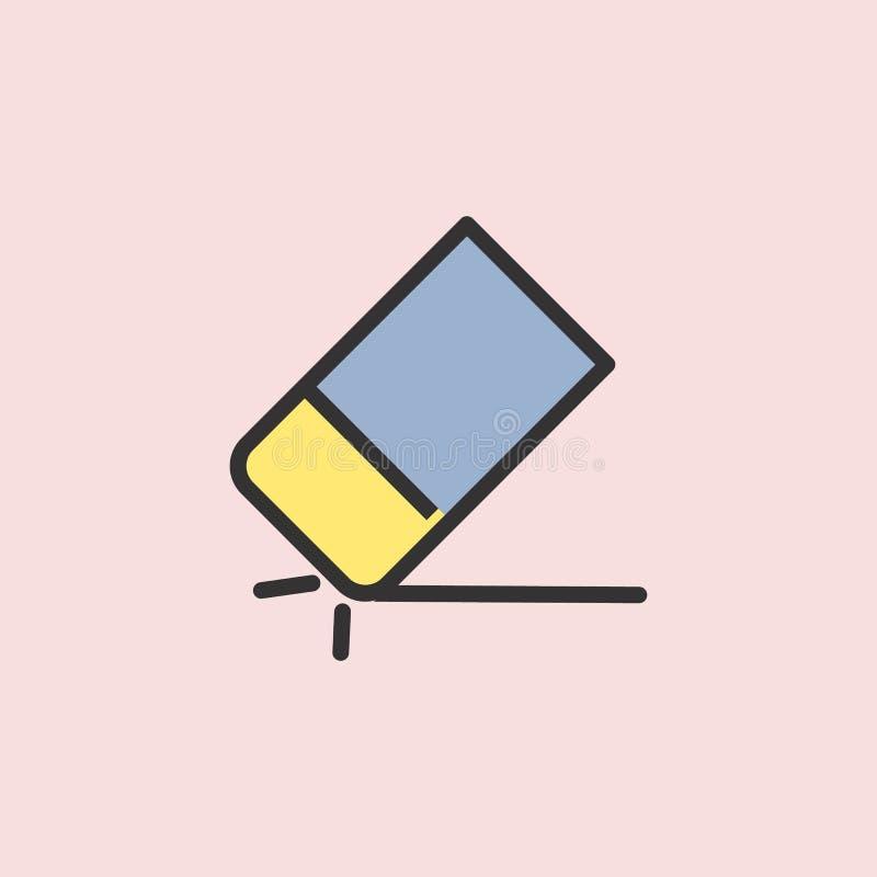 Wis het pictogram van de potloodlijn Element van kleurenonderwijs voor mobiele concept en Web apps illustratie Dun lijnpictogram  vector illustratie