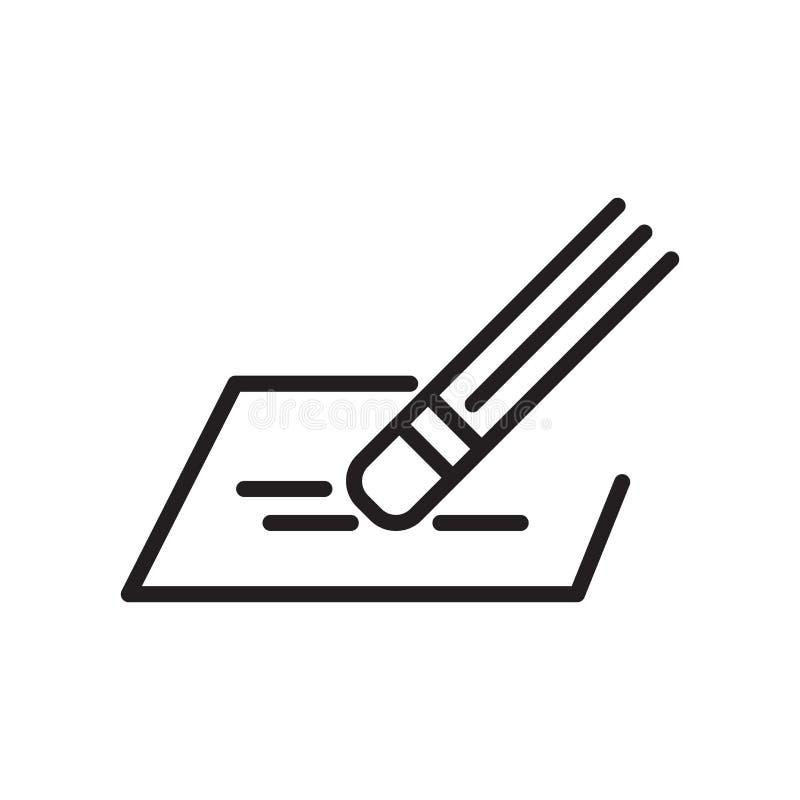 Wis pictogram vectorteken en symbool dat op witte achtergrond wordt geïsoleerd vector illustratie