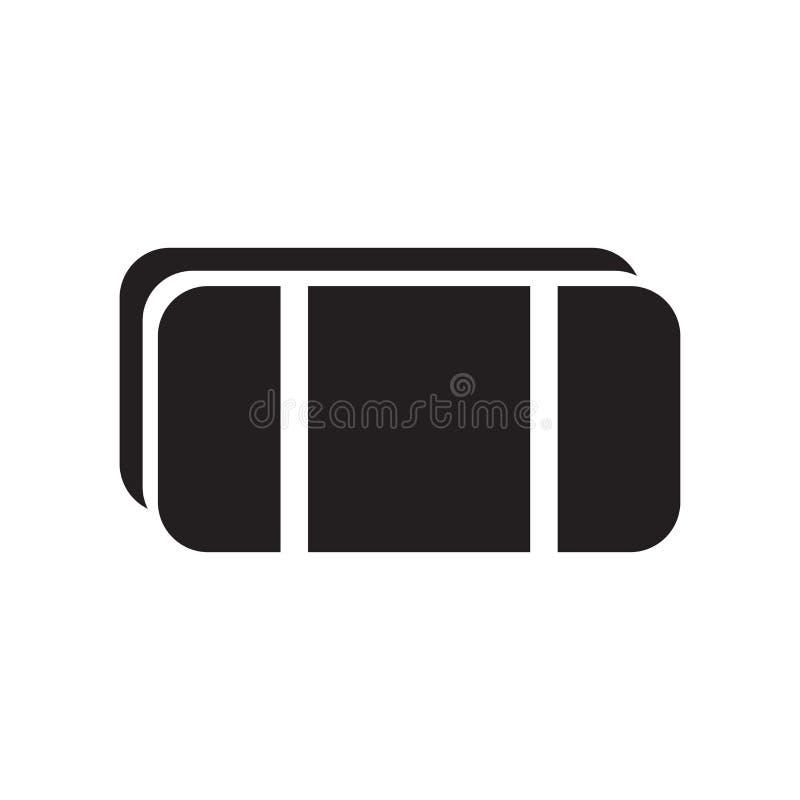 Wis pictogram vectorteken en symbool dat op witte achtergrond wordt geïsoleerd royalty-vrije illustratie