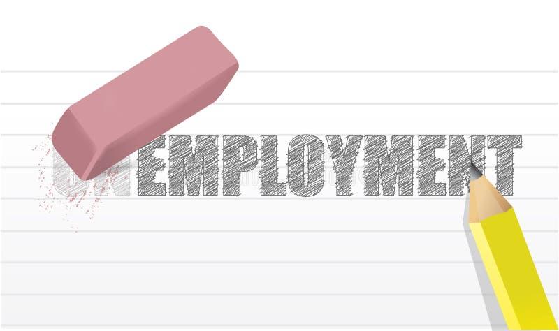 Wis werkloosheidsconcept vector illustratie