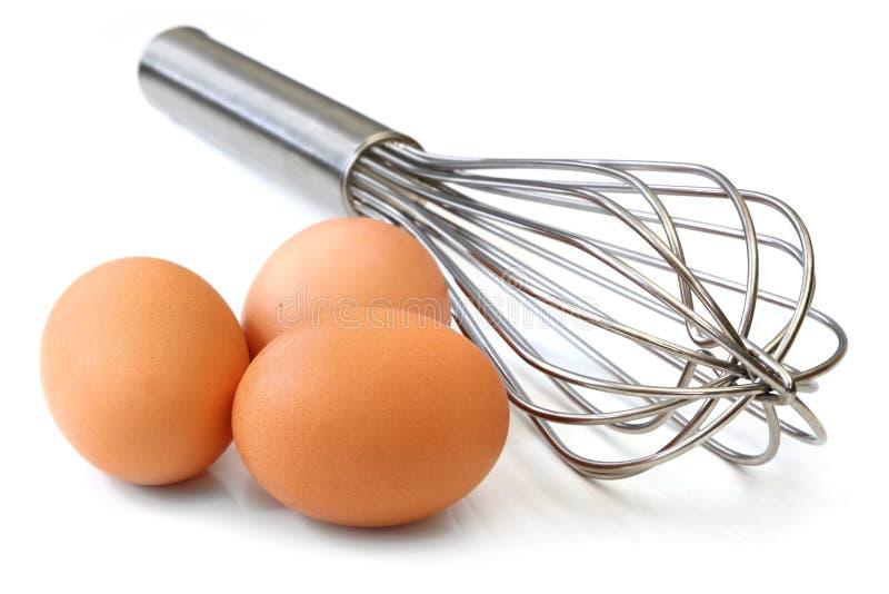Wischen Sie und Eier stockfoto