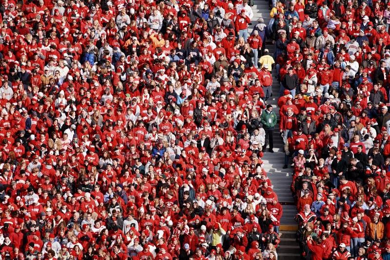 Wisconsin Badger Football Fans stock image