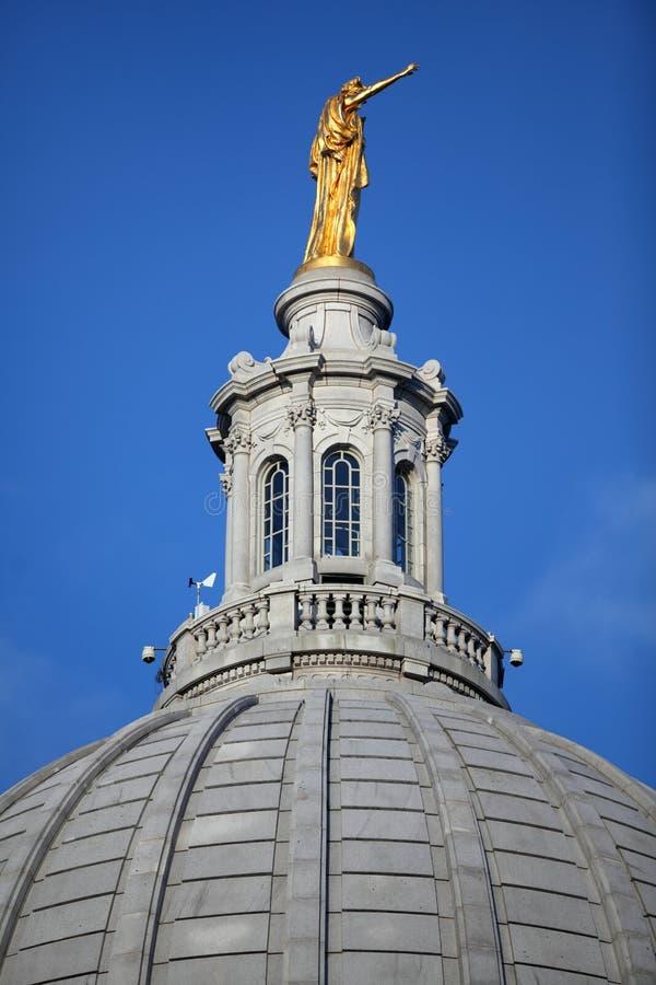 Wisconsin Capitolkupol royaltyfria bilder