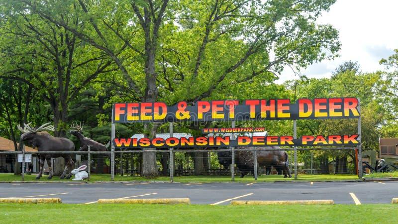 Wisconsin Deer Park, Wisconsin Dells obraz royalty free