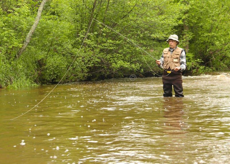 Wisconsin-Forellenfischen stockbilder