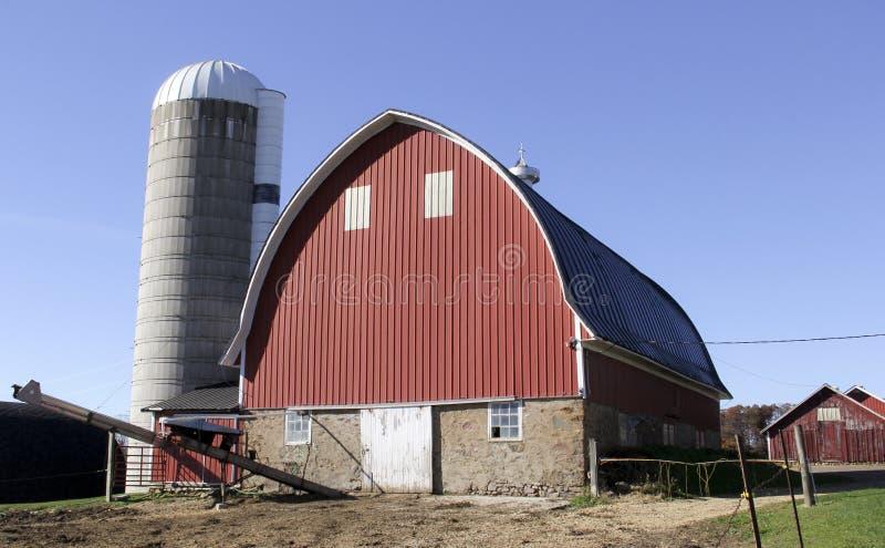Wisconsin mejeriladugård och lantgård royaltyfri foto