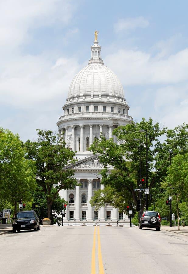 Wisconsin stanu Capitol budynek obraz stock