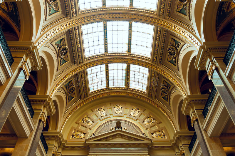 Wisconsin stanu Capitol budynku Zachodnia galeria fotografia royalty free