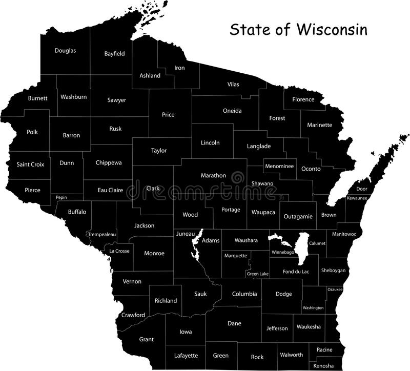 Wisconsin State Stock Photo