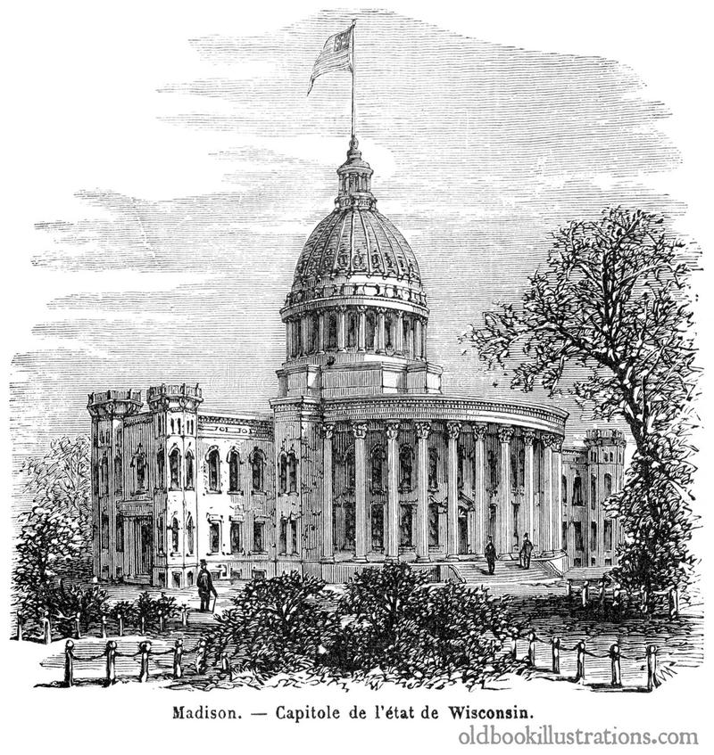 Wisconsin State Capitol, Madison stock photos