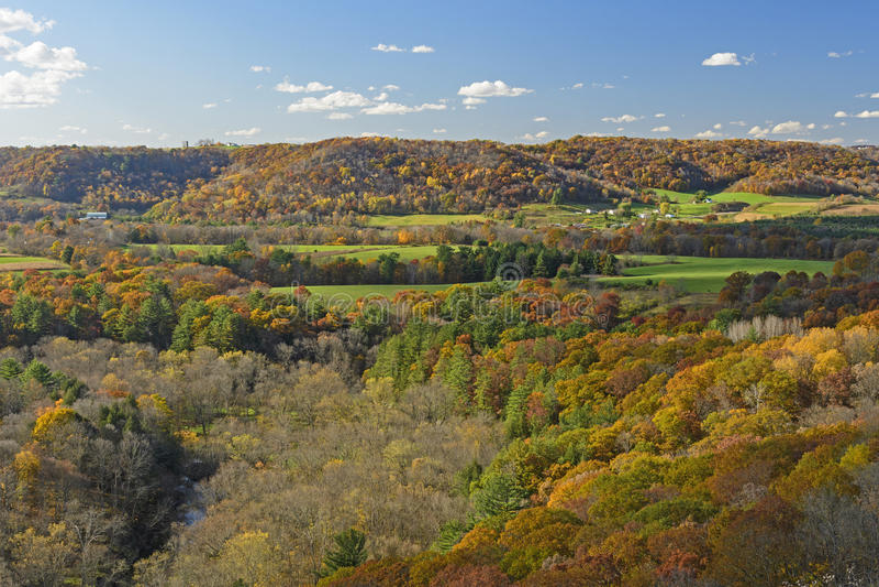 Wisconsin ziemi uprawnej wieś w spadku fotografia royalty free