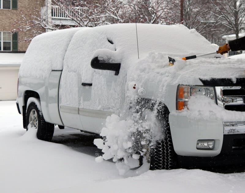Wisconsin zimy dnia natury śnieżny tło obrazy stock