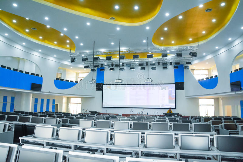 Modern Classroom Training ~ Wisdom digital future training room editorial photography