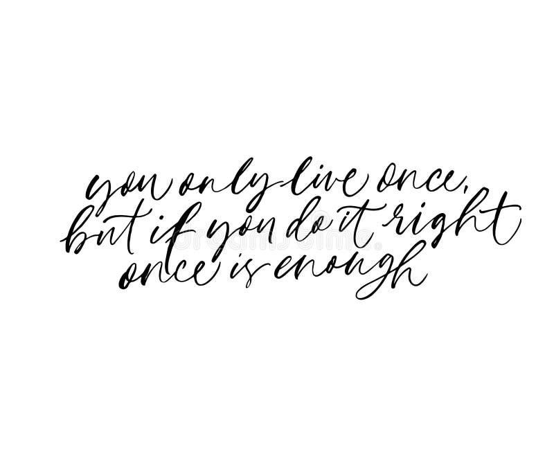 Wisdom saying, motivational quote handwritten lettering vector illustration
