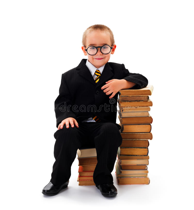 Download Wise Kid stock image. Image of concepts, portrait, happy - 33994441