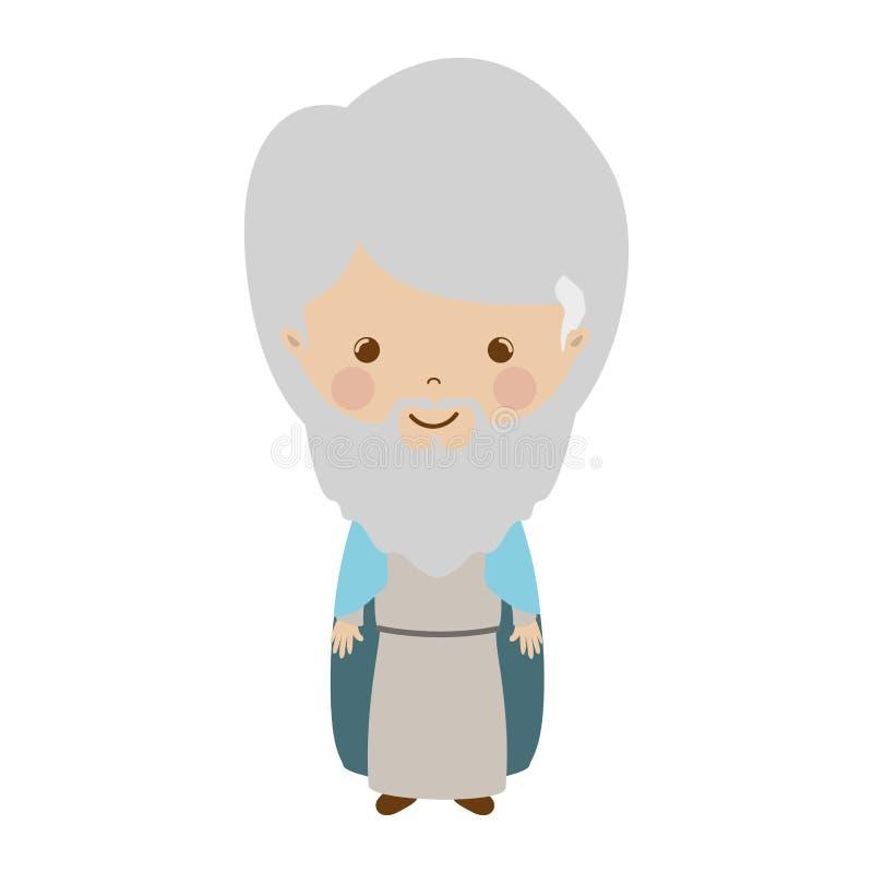 The wise man gaspar cartoon. Vector illustration stock illustration
