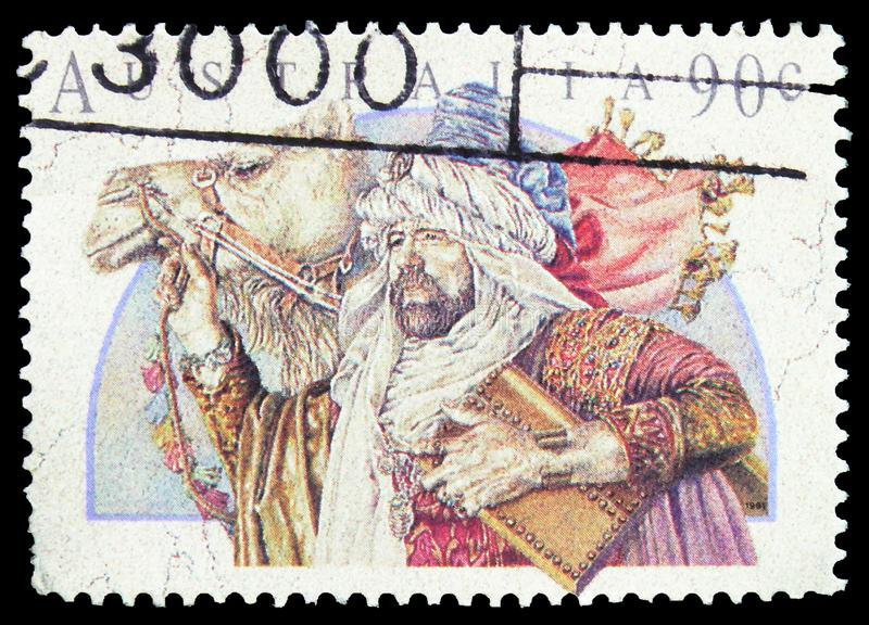 Wise Man, serie navideña de 1991, alrededor de 1991 imagen de archivo