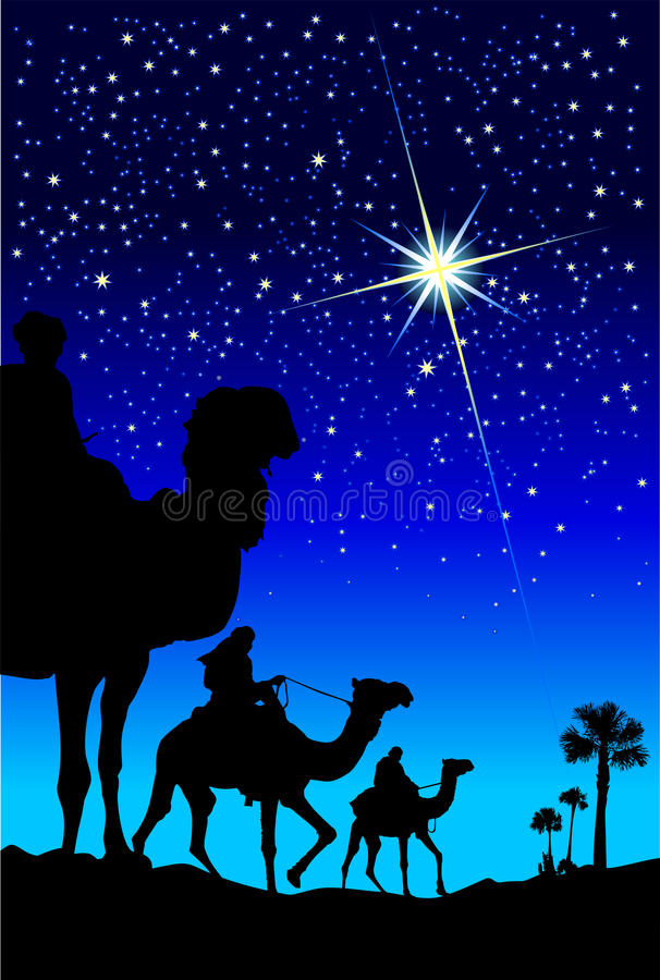 Wise men royalty free illustration
