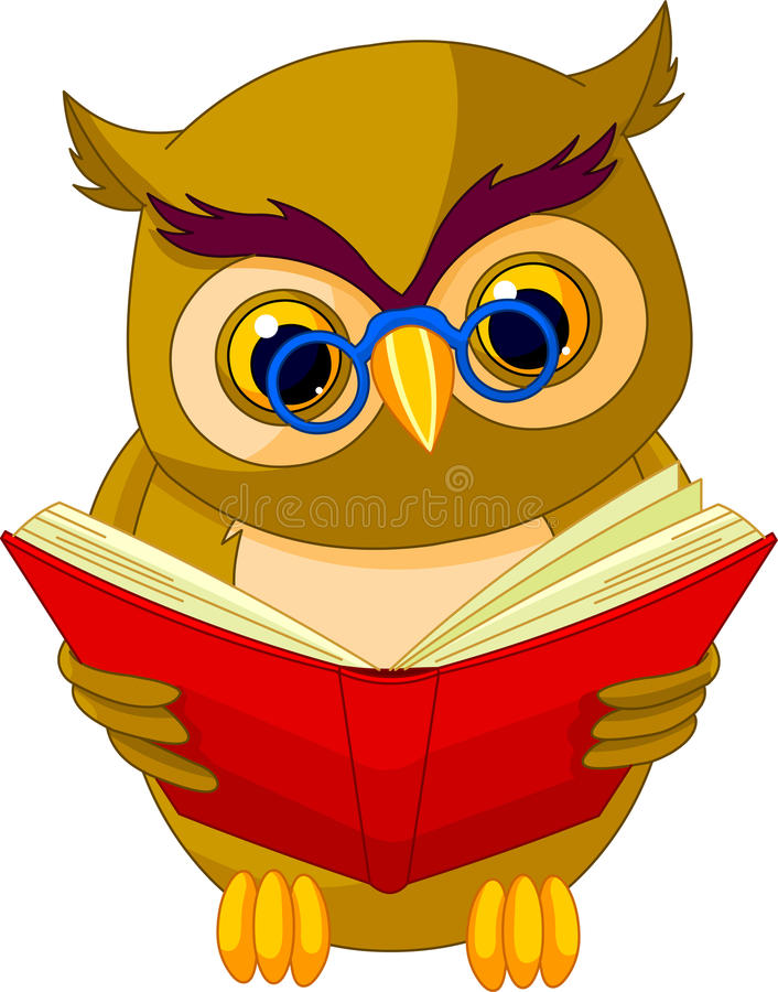 Wise Owl Cartoon Stock Images