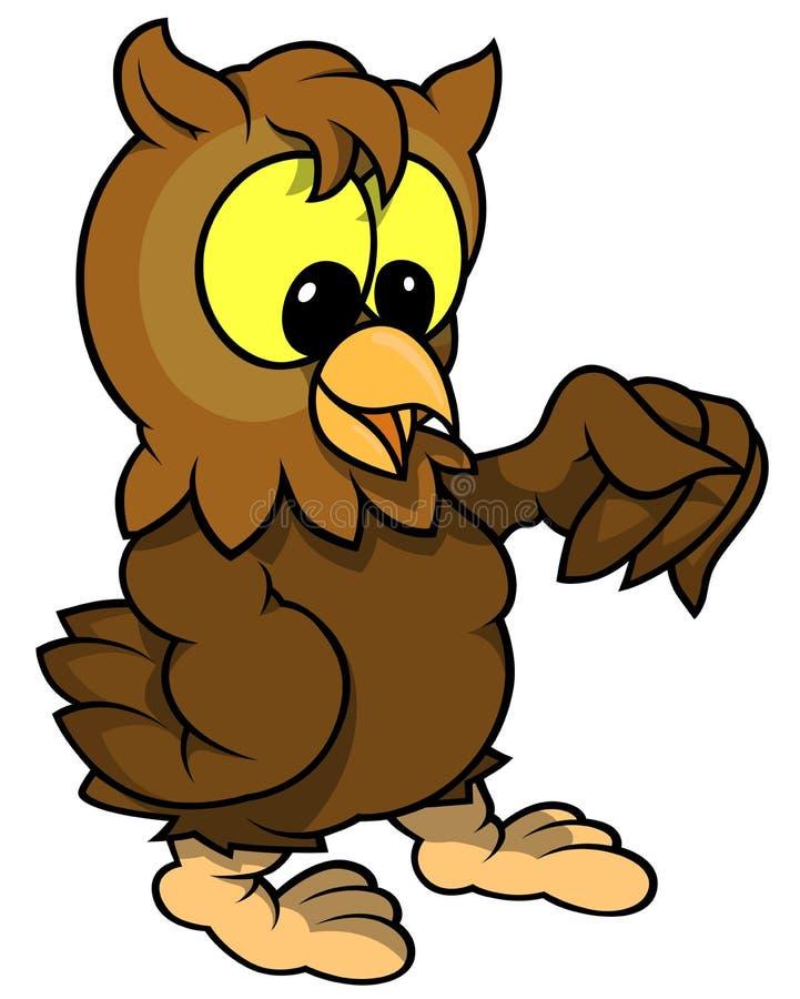 Download Wise Owl stock vector. Image of vector, wisdom, brown - 43040737