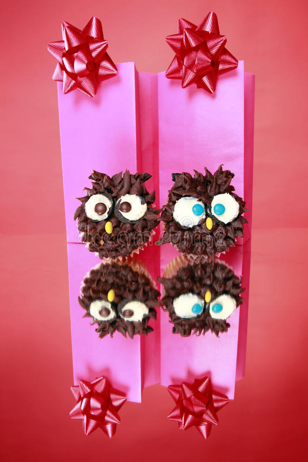Wise Owl Cupcakes Royalty Free Stock Photography