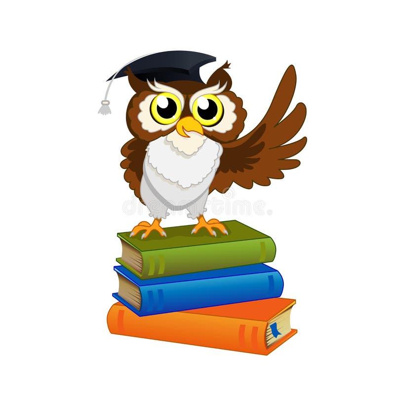 Wise owl royalty free stock photos