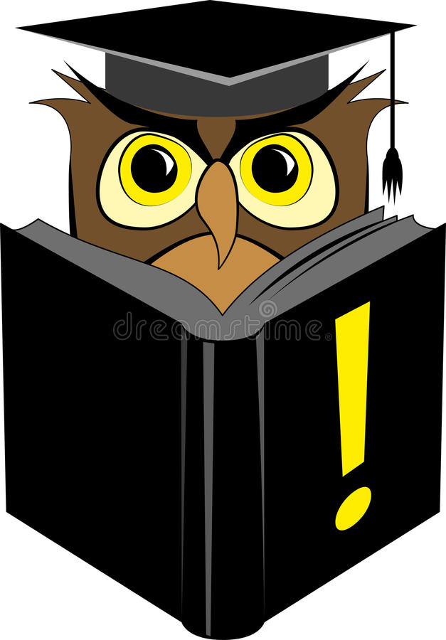 Download Wise owl reading book stock vector. Image of learn, intelligent - 33213332