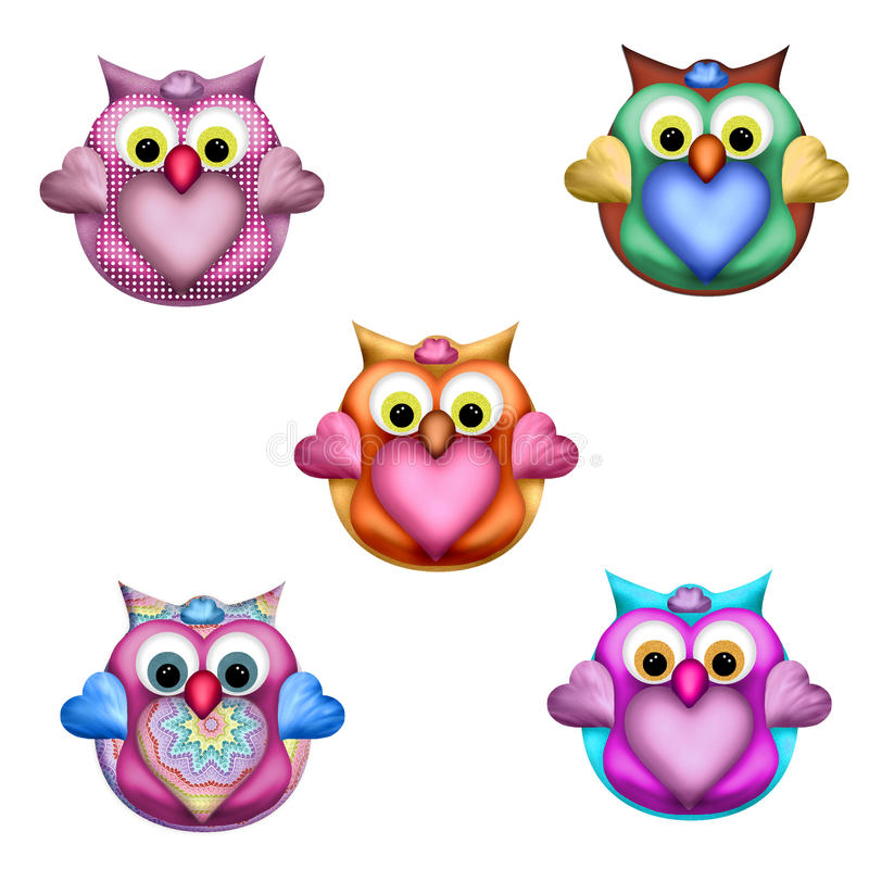 Wise Owl Toppers 2 royalty free stock photography