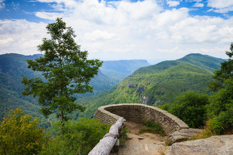 Wisemans View Overlook Linville Gorge NC royalty free stock photos