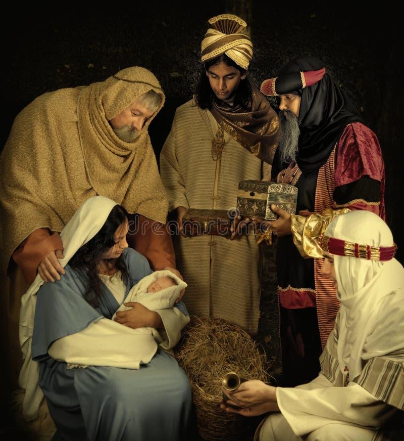 Wisemen à Noël images libres de droits