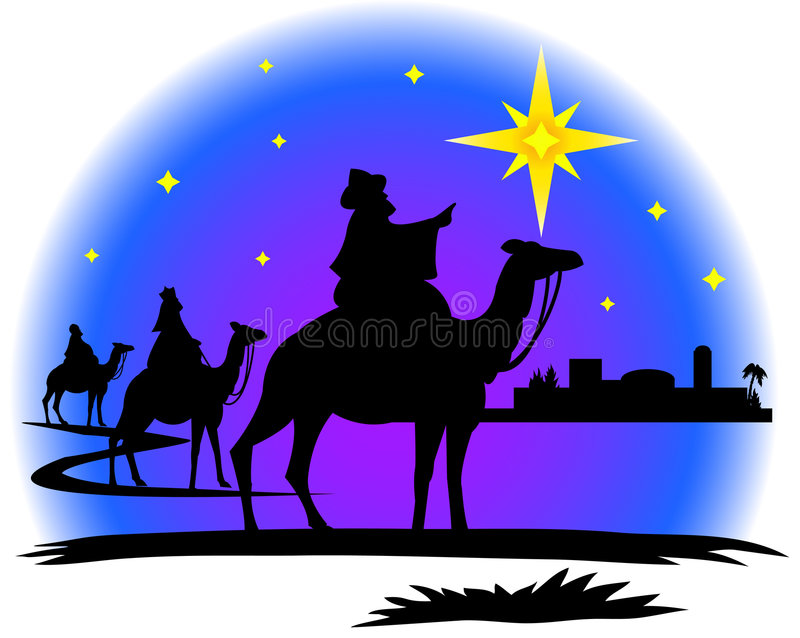 Wisemen silhouette vector illustration