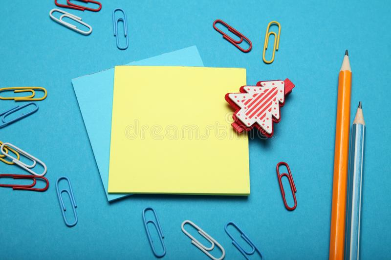 Wish of christmas gift, letter to Santa Claus.  stock photo