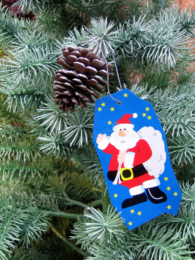 Wish on a christmas tree royalty free stock images