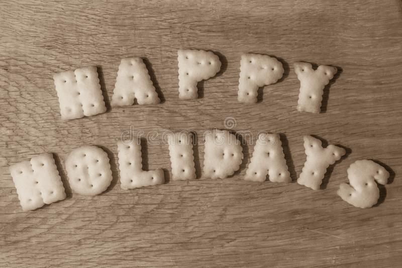 Wish good holidays royalty free stock images