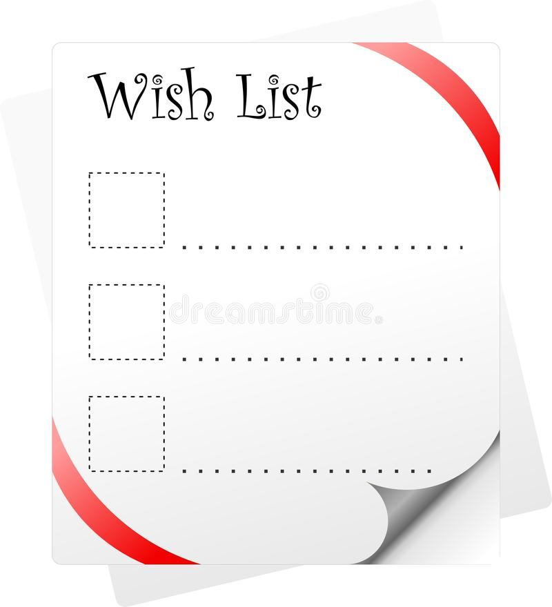 Download Wish List stock illustration. Illustration of present - 24761426